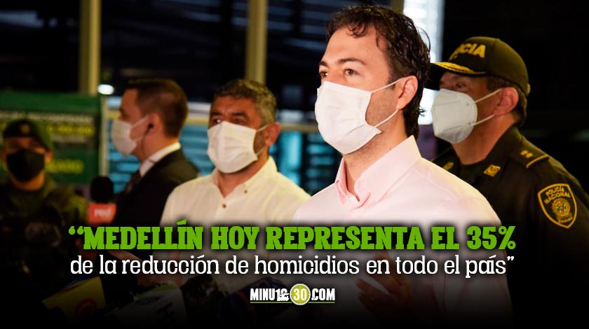 Baja en los delitos de alto impacto en Medellín el último mes