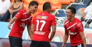 medellin festejo gol pardo clasico liga 2012