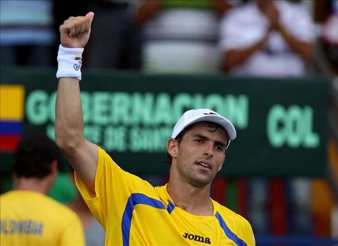El tenista colombiano Santiago Giraldo. EFE/Archivo