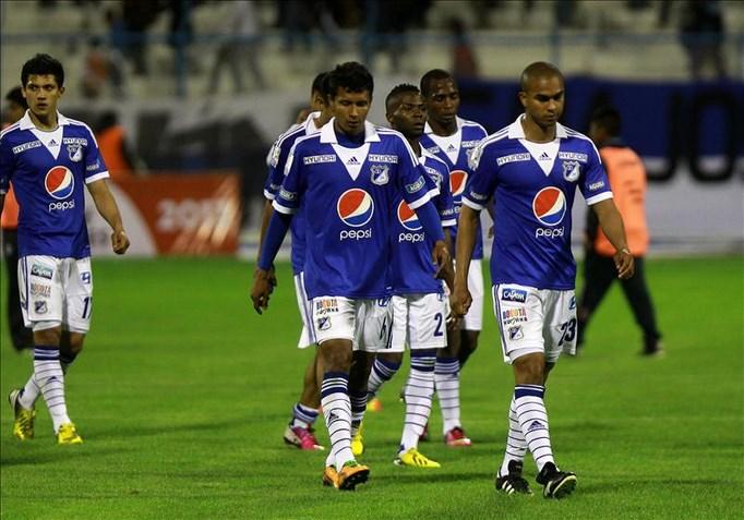 En la imagen, jugadores del Millonarios de Colombia. EFE/Archivo