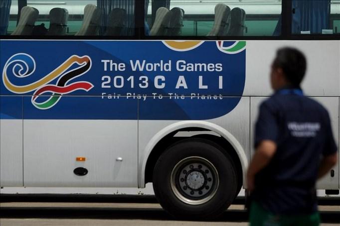El local Pedro Causil hizo en mejor guarismo para los 300 metros contrarreloj con 24.240 segundos, en desarrollo de los IX Juegos Mundiales que se llevan a cabo en Cali (Colombia). EFE/Archivo