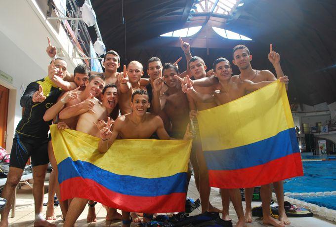 Selección Colombia masculina sub 19 de Hockey Subacuático.