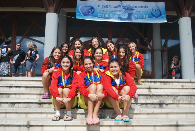 Selección Colombia femenina sub 19 de Hockey Subacuático.