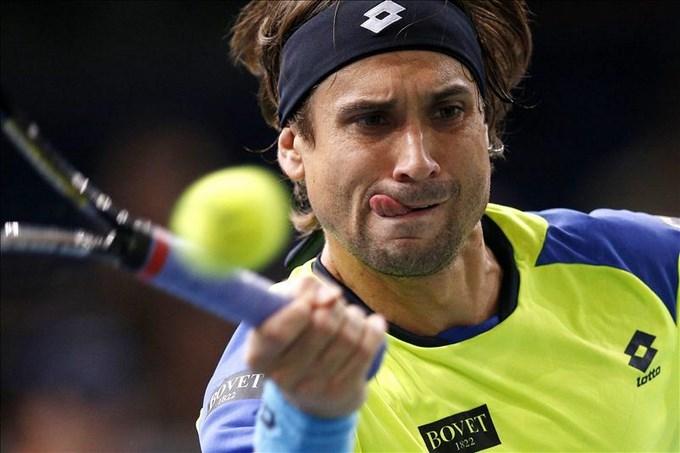 Ferrer comienza con susto la defensa de su título en Bercy. EFE.
