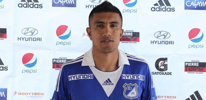 Se recupera Mario González, futbolista de Millonarios. Foto archivo.