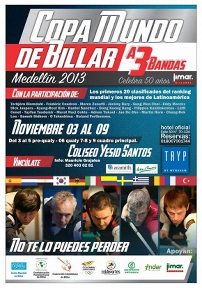 Parada Mundial de Billar Medellín 2013