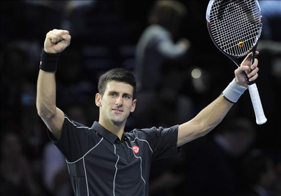 Novak Djokovic celebra el triunfo ante el francés Richard Gasquet. EFE