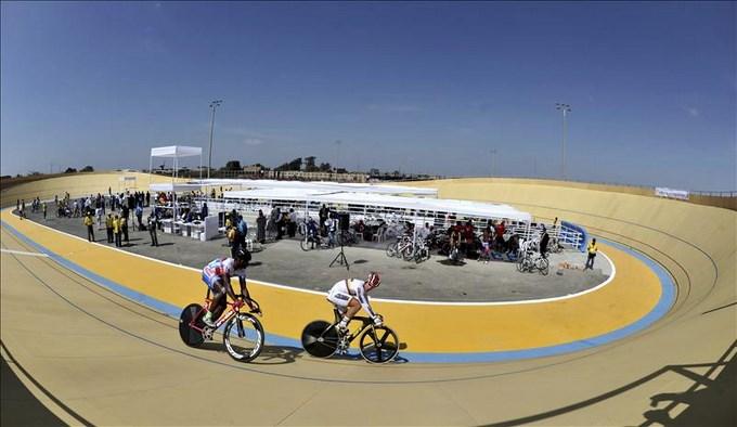 Colombia suma tres medallas más de Oro en Ciclismo en Bolivarianos de Perú. EFE.