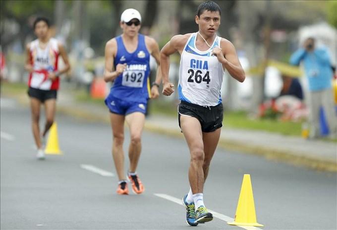 El guatemalteco Barrondo, oro en marcha atlética; Colombia y Venezuela al podio. EFE.