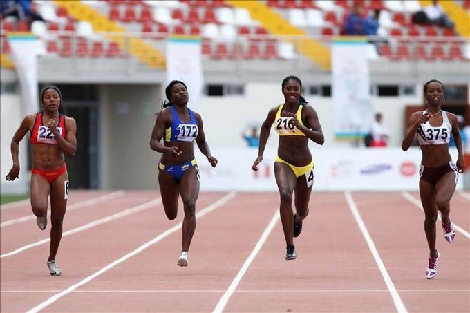 Colombia, Venezuela y Perú se reparten medallas en atletismo. EFE.