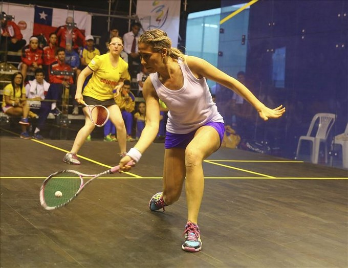 Colombia gana medallas de oro por equipos del squash de los Bolivarianos. EFE.