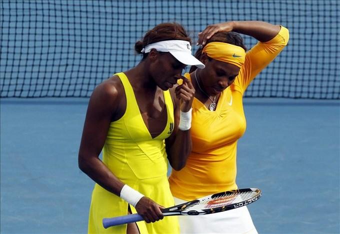 Las hermanas Williams expresaron su felicidad por estar en Argentina. EFE.