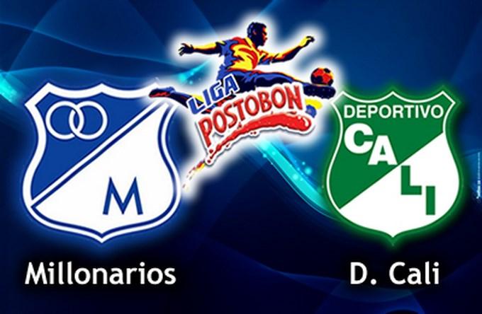Liga Postobón: Millonarios cayó ante Cali. Foto Liga Postobón.