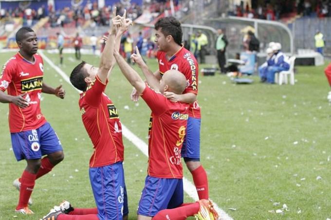 Pasto 2 Caldas 1 Liga Postobón. Foto Everyfutbol.com.