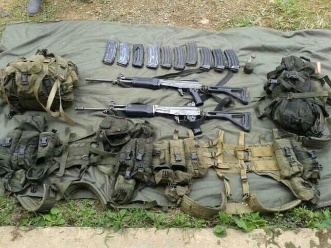 Material incautado al frente 34 de las Farc en zona rural de Urrao, Antioquia. (Copiar)