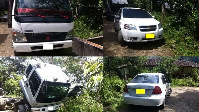 Vehiculos recuperados por Cuarta Brigada app