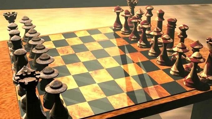 tablero de ajedrez 3d Copiar1