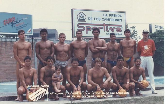 Foto archivo Sel Col Polo Acuático 1988