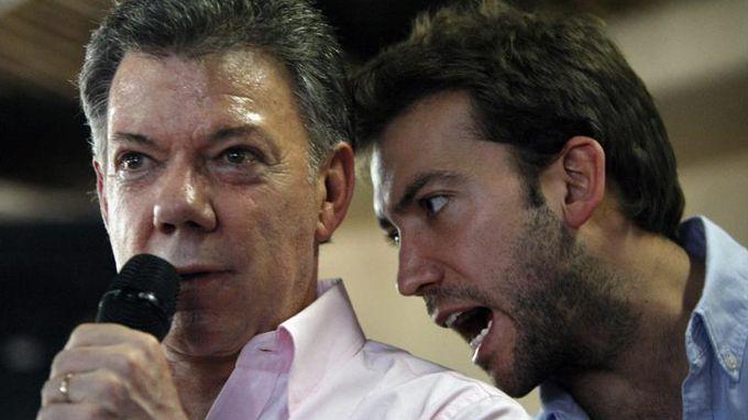 """Según Santos """"Uribe insinuó que en su campaña presidencial de 2010 entró dinero ilegal para desviar la atención del caso de espionaje que involucra a Zuluaga"""". EFE"""