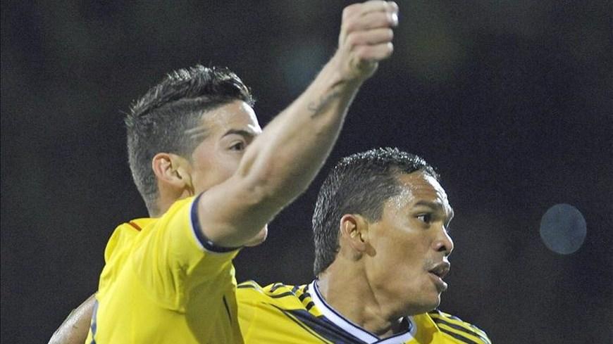 James Rodríguez y Carlos Bacca - Colombia 2 EE.UU. 1 - Foto EFE
