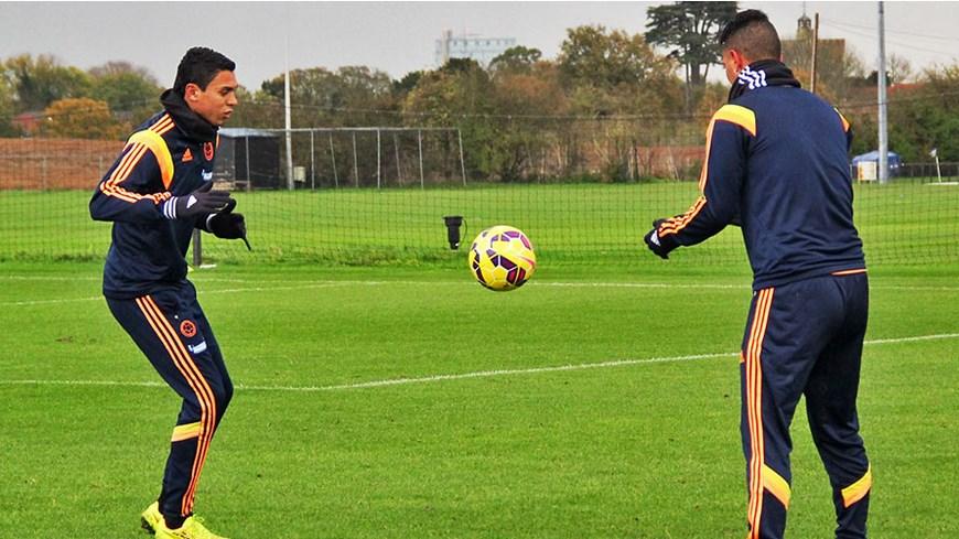 Selección Colombia  entrena en Londres - Foto FCF