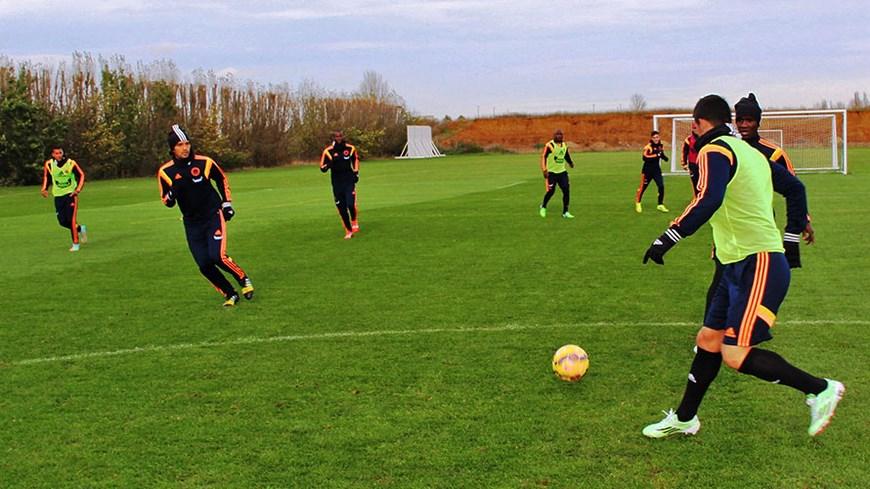 Selección Colombia entrenamiento en Londres -Foto FCF