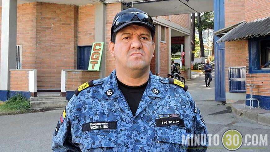 Dragoneante Luis Alberto Pinzón Zamora, presidente de la UTP seccional Bello.