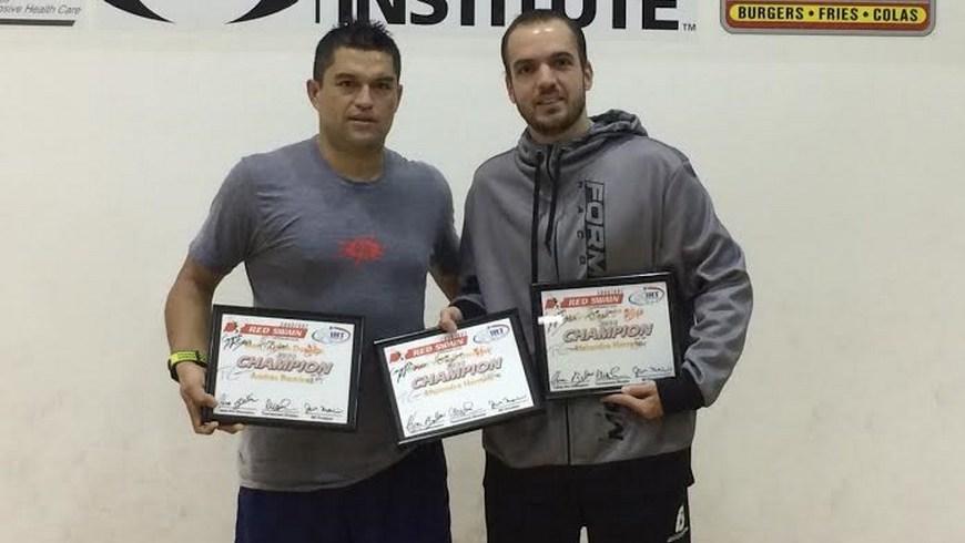 Herrera y Ramírez campeones en torneo internacional de Racquetball - foto COC