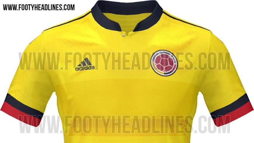Camiseta de La Selección Colombia de Fútbol - Foto www.footyheadlines.com