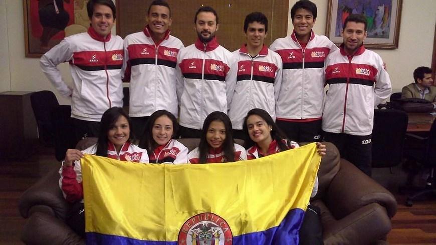 Selección Colombia mayores de Squash - Foto COC