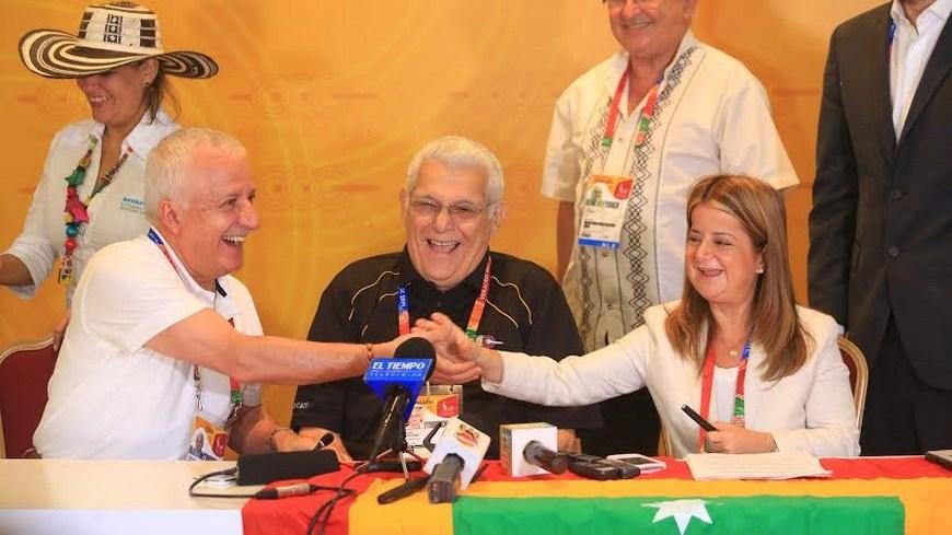 Baltazar Medina, Héctor Cardona y Elsa Noguera - Foto COC