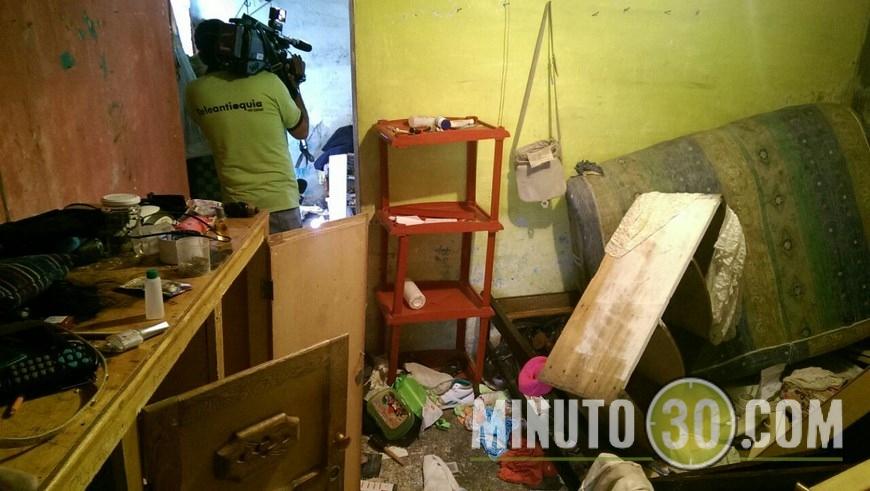 Sitio donde permanecían secuestradas las dos mujeres. Foto: Cortesía
