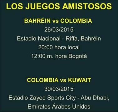 Amistosos Colombia