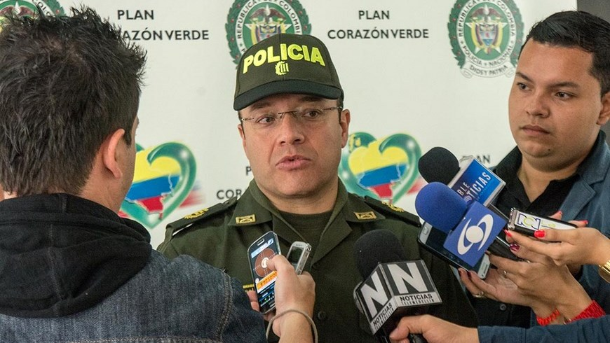 Coronel Wilman Chavarro, comandante Operativo de la Policía Metropolitana.
