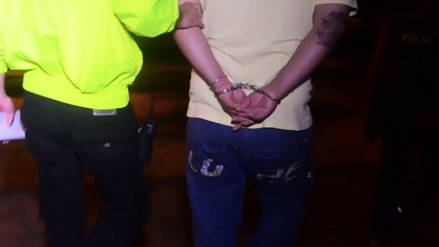 En el momento de la captura de los presuntos miembros de 'los Machacos'. Foto: Cortesía