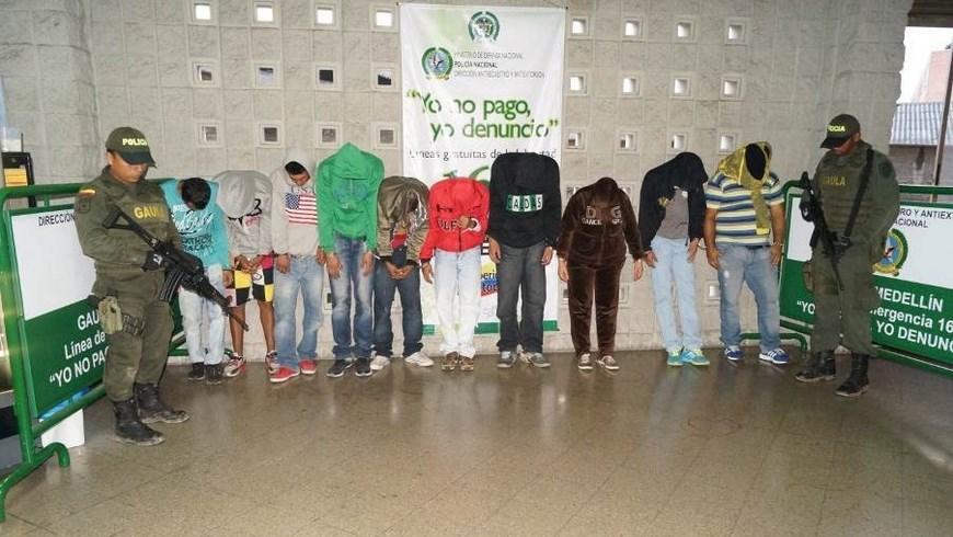Capturas de la banda 'La Inmaculada'. Foto: Policía Metropolitana.