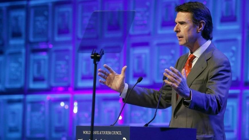 El ministro español de Industria, Energía y Turismo, José Manuel Soria, durante su intervención en la inauguración de la XV cumbre anual de la World Travel & Tourism Council (WTTC). EFE