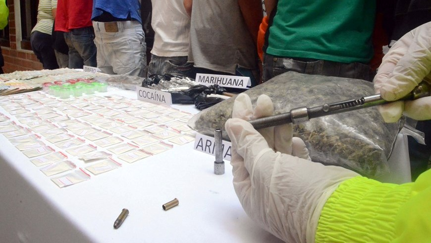 Material incautado durante los operativos. Foto: Policía Metropolitana del Valle de Aburrá.