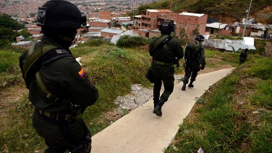 Durante el operativo. Foto: Policía Metropolitana del Valle de Aburrá.