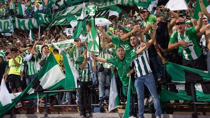 Aficionados de Atlético Nacional en Atanasio Girardot