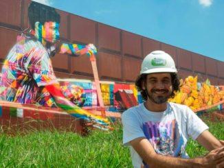 El grafitero Kobra inmortaliza en Sao Paulo el mayor mural del mundo