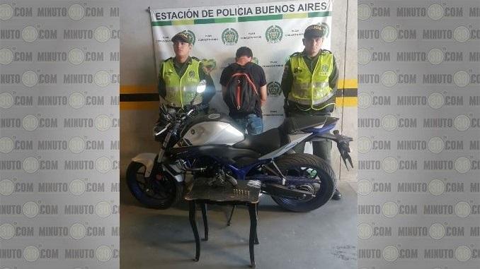 Capturado por robar moto en Miraflores.