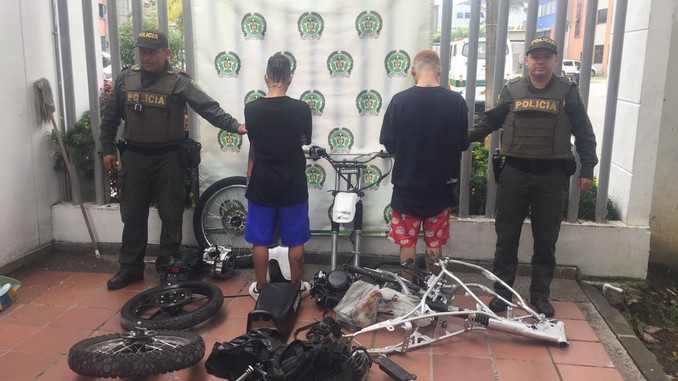 capturados hurto moto