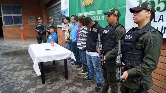 Capturados integrantes de la banda delincuencial 'La Inmaculada'.