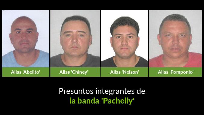 Cayeron cuatro presuntos integrantes de la banda 'Pachelly'. Dos de ellos se entregaron