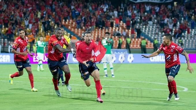goma hernandez celebra gol de Medellin Copiar