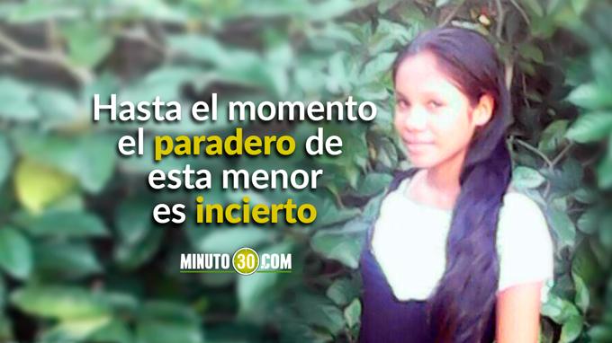La Fotografía de la menor raptada es publicada con autorización de sus familiares, para ayudar en su búsqueda