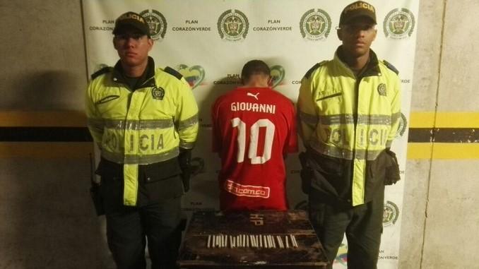 Capturado con marihuana en Buenos Aires.