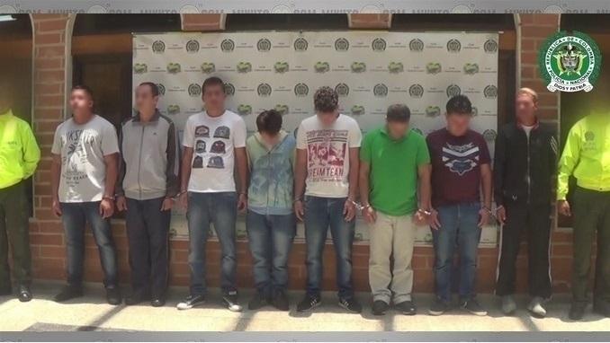 Capturados presuntos integrantes de la banda 'Colima'.