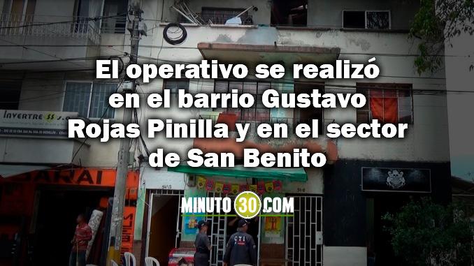 xtinción de dominio a dos inmuebles en el centro de Medellín que eran usados como plazas de vicio